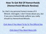 how to get rid of hemorrhoids hemorrhoid miracle review4