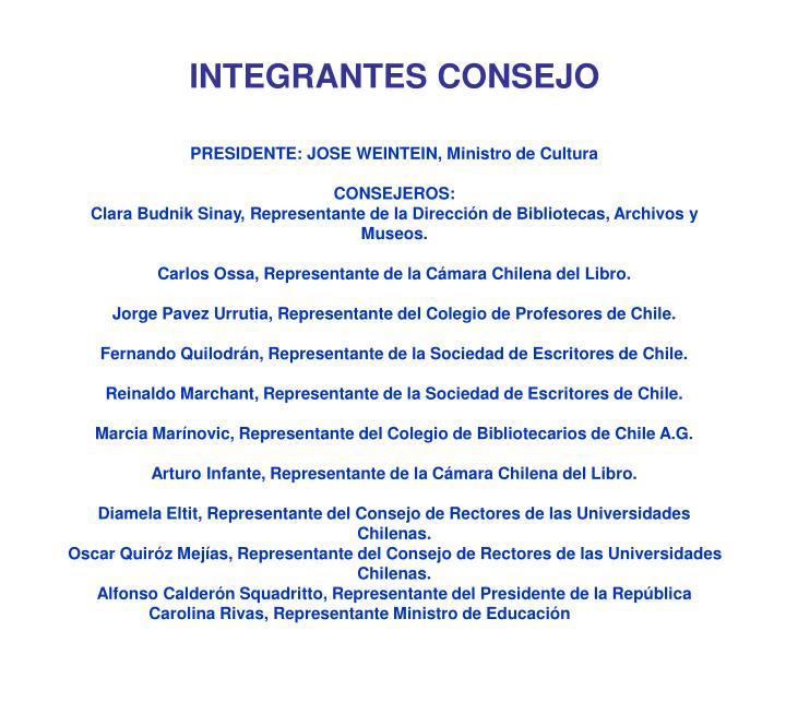 Integrantes consejo