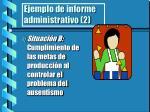 ejemplo de informe administrativo 2