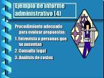 ejemplo de informe administrativo 4
