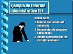 ejemplo de informe administrativo 5