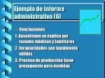 ejemplo de informe administrativo 6