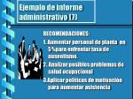 ejemplo de informe administrativo 7