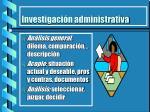 investigaci n administrativa