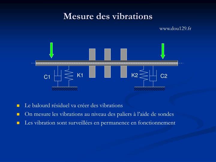 Mesure des vibrations