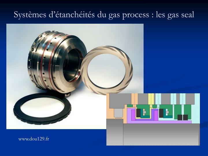 Systèmes d'étanchéités du gas process : les gas seal