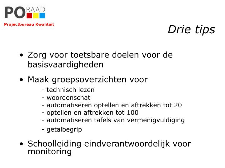 Drie tips