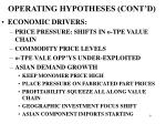 operating hypotheses cont d