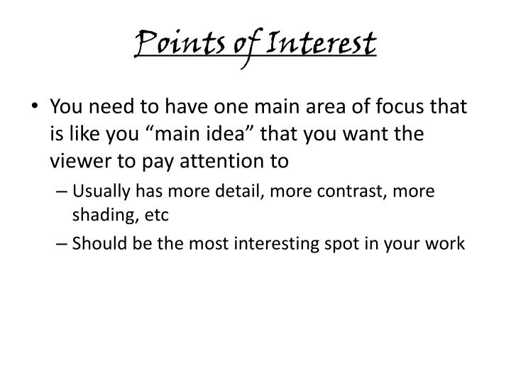 Points of Interest