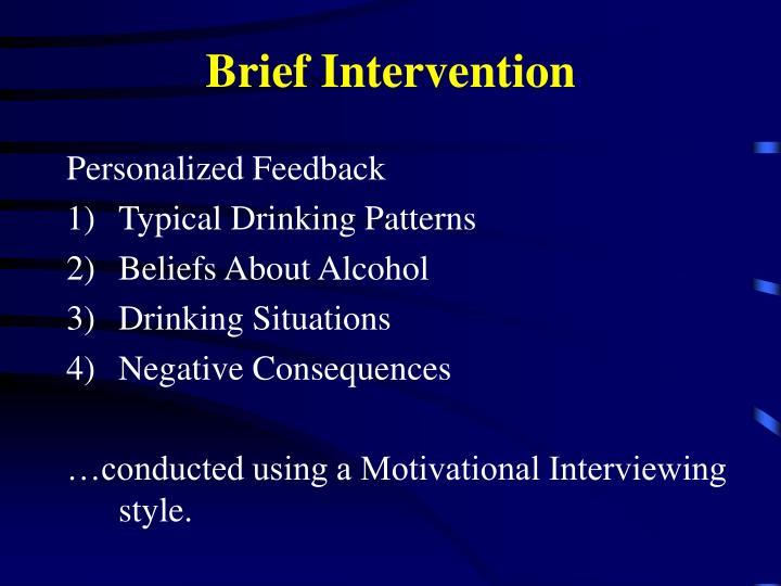 Brief Intervention