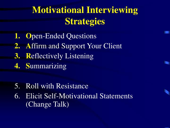 Motivational Interviewing Strategies