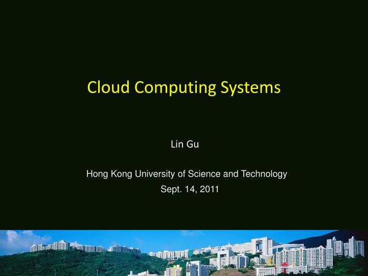 Cloud computing systems
