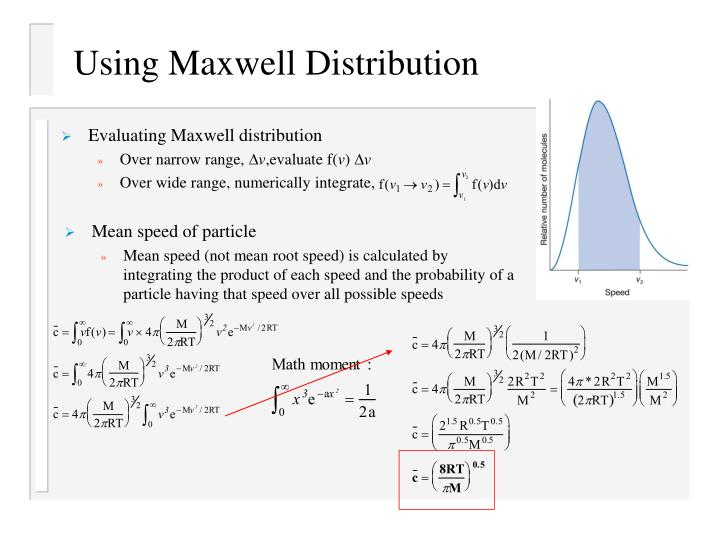 Using Maxwell Distribution