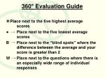 360 evaluation guide