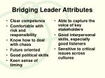 bridging leader attributes