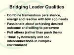 bridging leader qualities