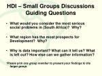 hdi small groups discussions guiding questions