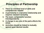 principles of partnership