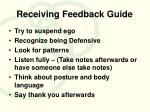 receiving feedback guide
