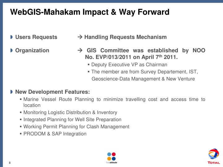 WebGIS-Mahakam Impact & Way Forward