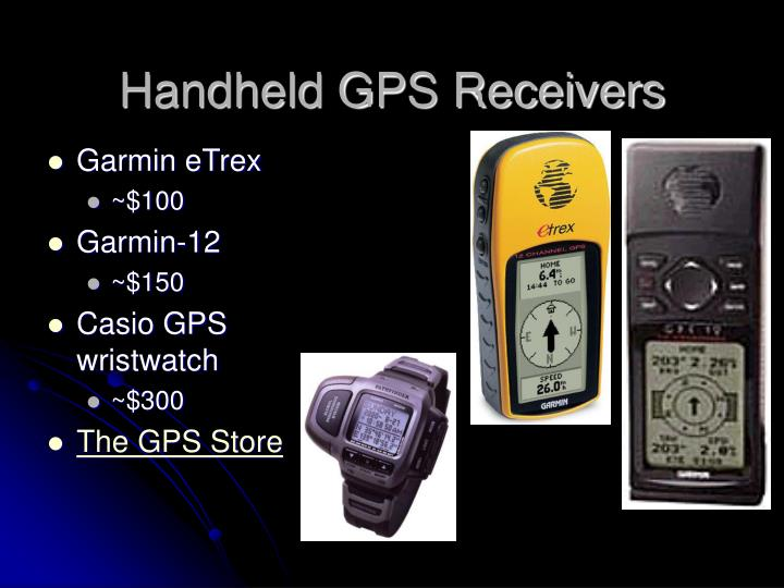 Handheld GPS Receivers