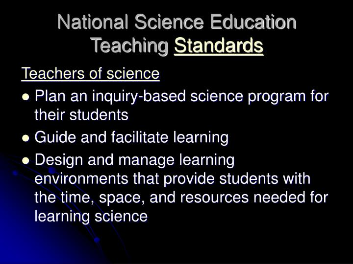 National Science Education Teaching