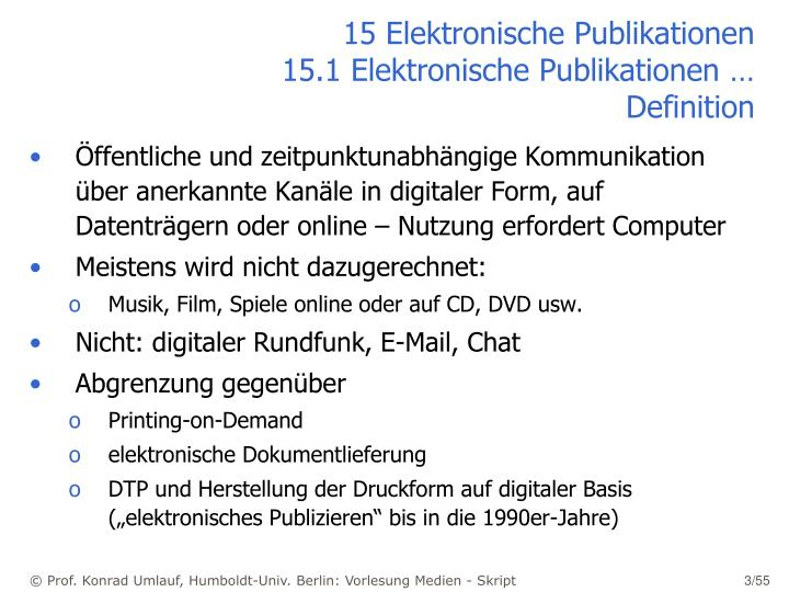 15 elektronische publikationen 15 1 elektronische publikationen definition