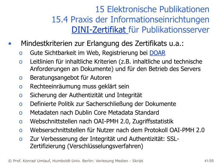 15 Elektronische Publikationen