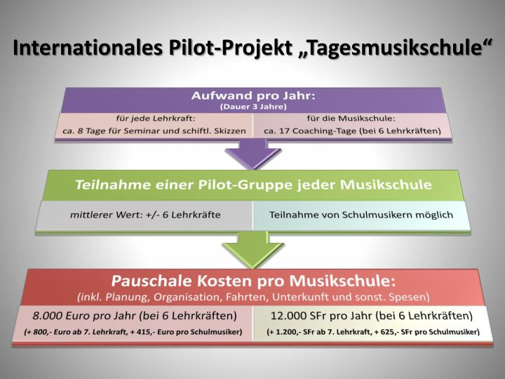 "Internationales Pilot-Projekt ""Tagesmusikschule"""
