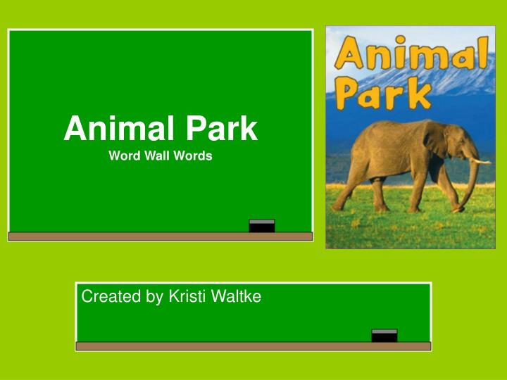 animal park word wall words n.