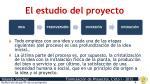 el estudio del proyecto