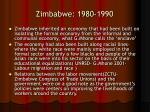 zimbabwe 1980 1990