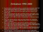 zimbabwe 1990 2000