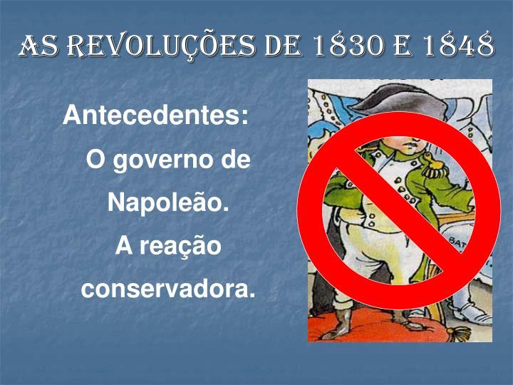 As revoluções de 1830 e 1848