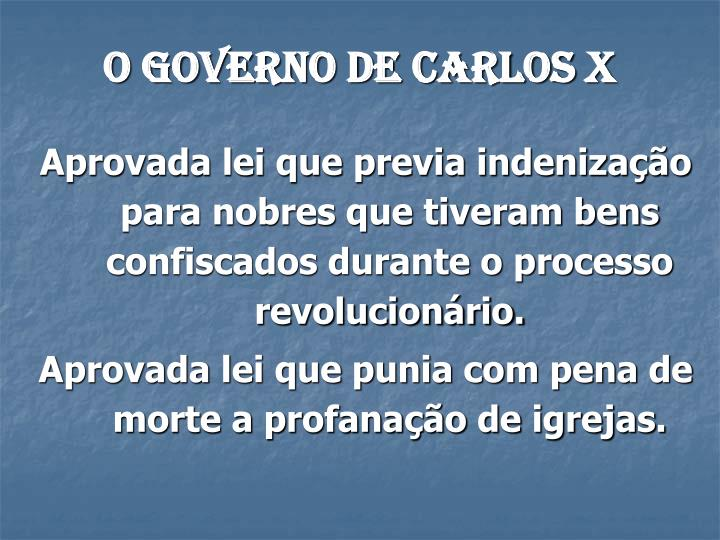 O governo de Carlos X