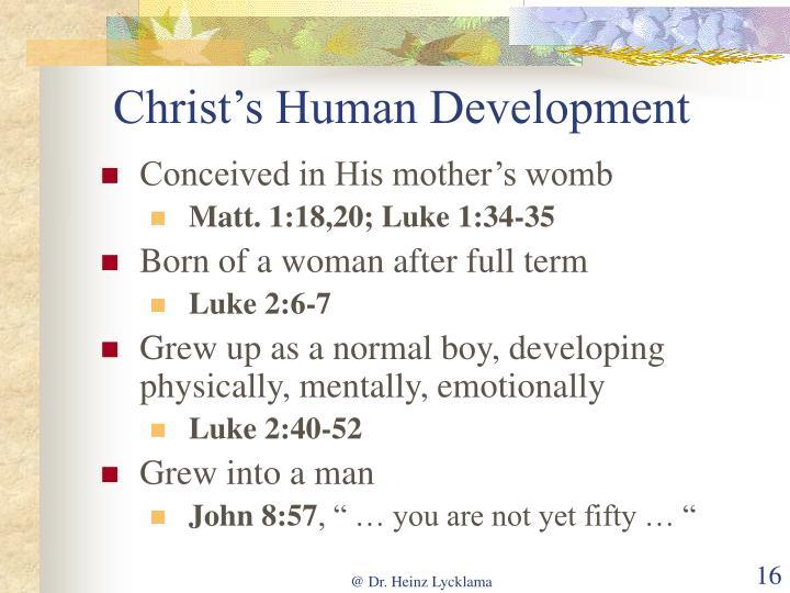 Christ's Human Development
