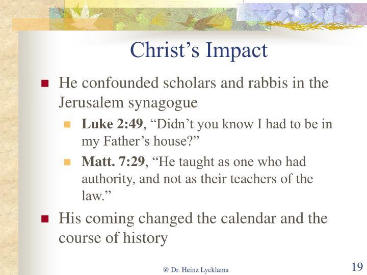 Christ's Impact