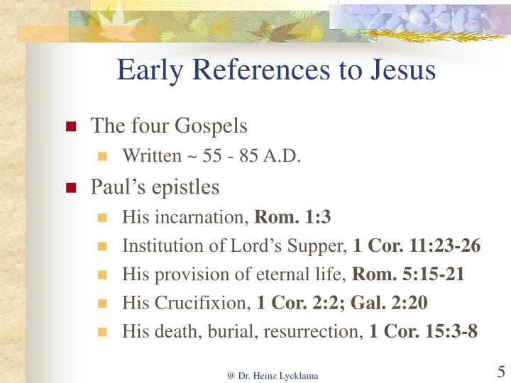 Early References to Jesus