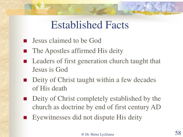 Established Facts