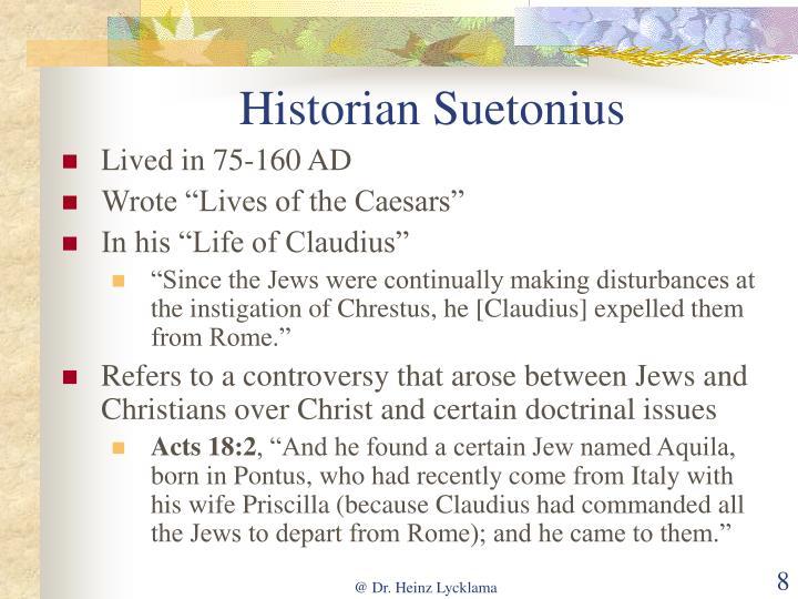 Historian Suetonius