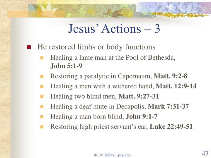 Jesus' Actions – 3