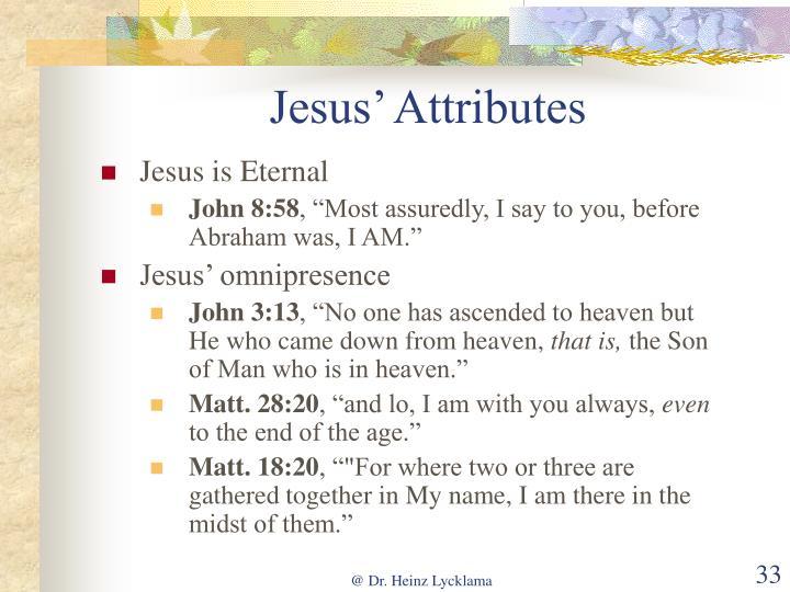 Jesus' Attributes