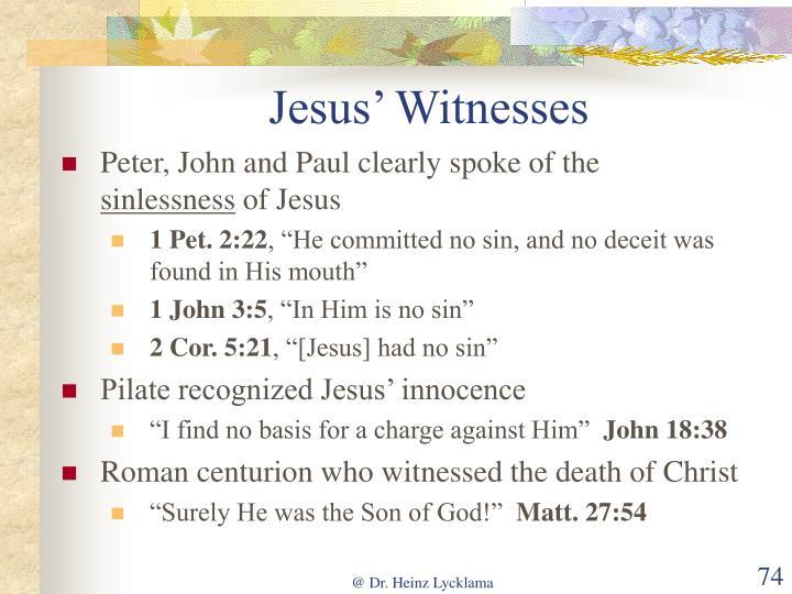 Jesus' Witnesses