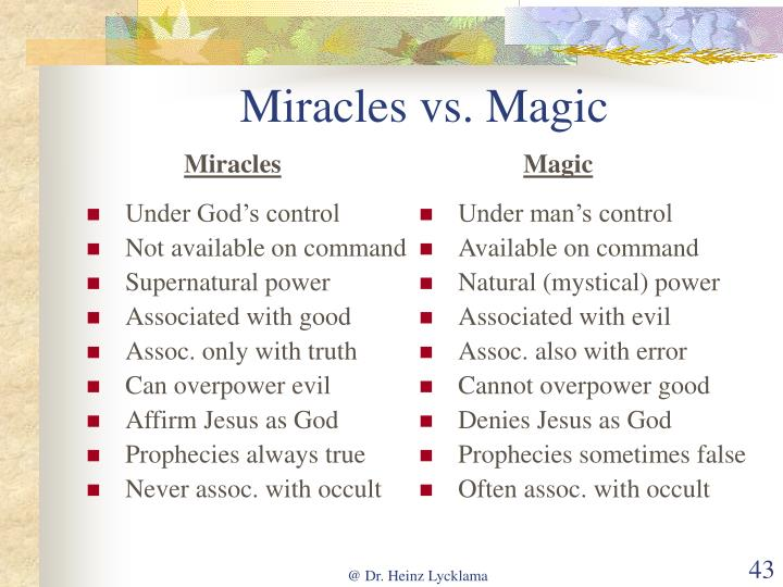 Under God's control