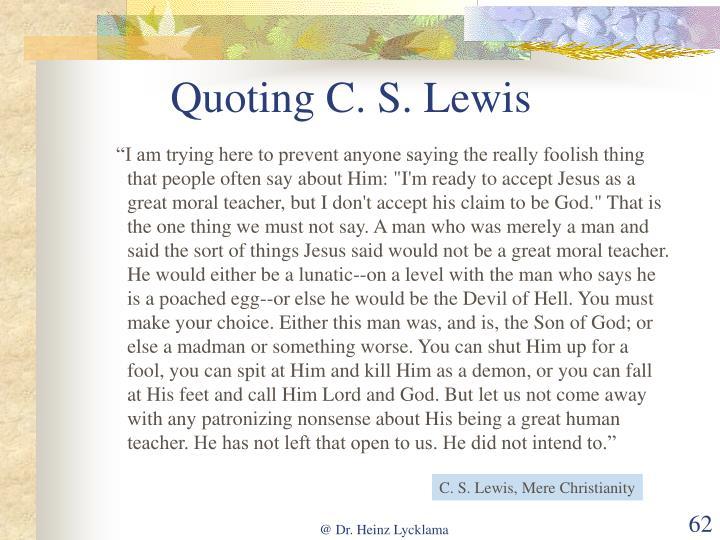 Quoting C. S. Lewis