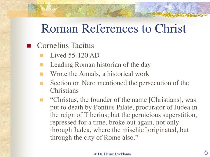 Roman References to Christ