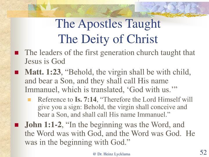 The Apostles Taught