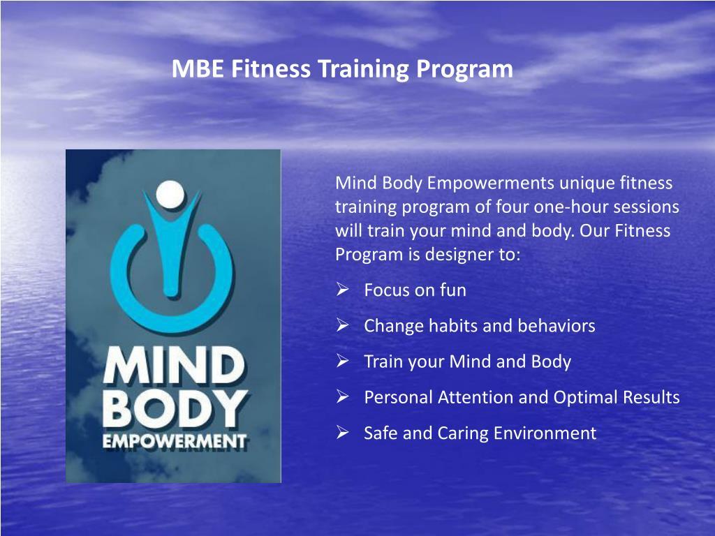 MBE Fitness Training Program