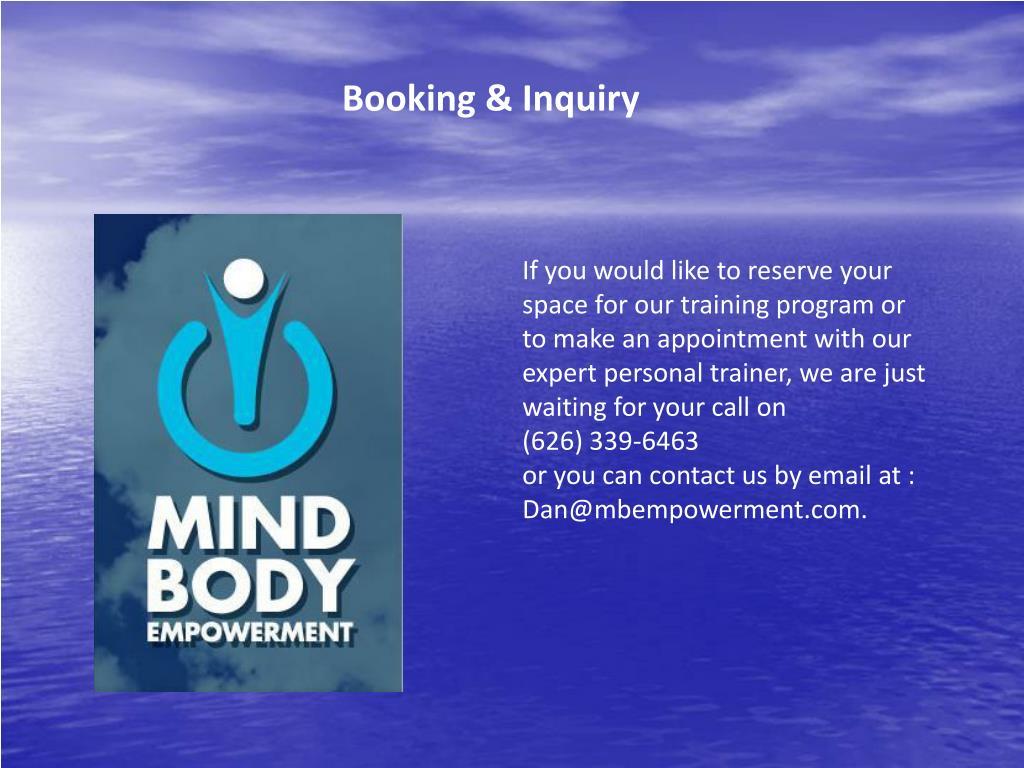 Booking & Inquiry