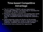 time based competitive advantage